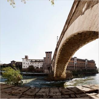 Fotografia Composita,  photo ©Leonardo Damiani 2014 www.3462.eu Ponte Fabricio ed Isola Tiberina a Roma